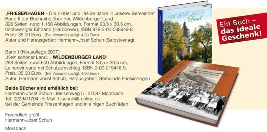 Das ideale Geschenk! Beide Bücher erhältlich bei der Geminde Friesenhagen und in Buchläden